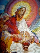 Jesus och bägare